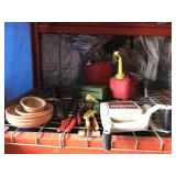 Large Lot of Gardening Tools and Gas Cans