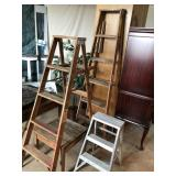 Selection of Ladders, 2 ft, 5 ft, 6 ft