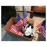 Selection of American Flags with window hooks