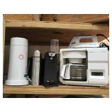 Home Appliances Including Coffee Maker, Iron