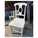 Solid Wood White Chair