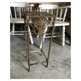Scrolling Metal Plant Stand