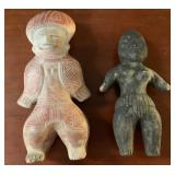 Two African Style Carved Statues