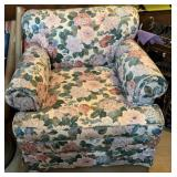 Floral Pattern Parlor Chair
