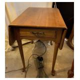 Solid Wood Drop Leaf Side Table with