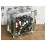 Glass Vase Full of Marbles