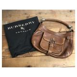 Leather Burberry Purse with Bag