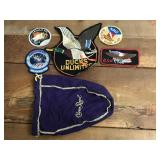 Selection of Patches in Crown Royal Bag