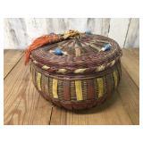 Native American Wicker Basket Full of