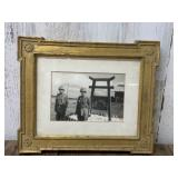 Framed and Matted Vintage Army Picture
