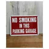 """""""No Smoking In This Parking Garage"""" Sign"""