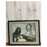 Framed and Matted Hunting Photo