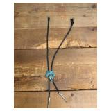 Native American Turquoise Inlay Bolo Tie