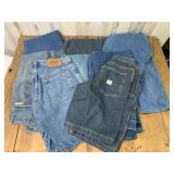 Selection of Denim Jeans and Jean Shorts