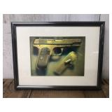 Framed and Matted Colt 45 Holographic