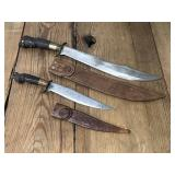 Two Collectable Knives with Sheaths