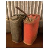 Two Vintage Metal Gas Cans