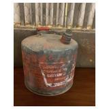 Galvanized Gasoline Can