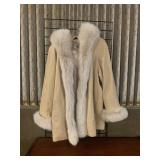 Marvin Richards Size L Leather and Fur Coat