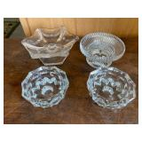 Selection of Crystal Candle Holders