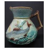 "19TH C. MAJOLICA ""SEA LIFE"" PITCHER"