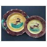 TWO 19TH C. MAJOLICA PLATES