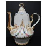 EARLY GERMAN PORCELAIN COFFEE POT and COVER