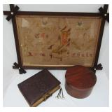 NEEDLEWORK, PICTURE NAILS, SHAKER BOX, PHOTO ALBUM
