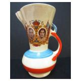 WADE-HEATH ROYALTY COMMEMORATIVE ART DECO PITCHER