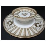 NORITAKE PORCELAIN CHIP AND DIP PLATE