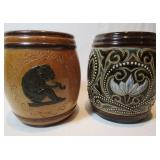 TWO DOULTON TOBACCO JARS