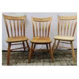 SET OF THREE ANTIQUE ARROW-BACK SIDE CHAIRS