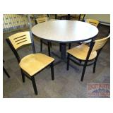 """47"""" Round Table & 4 Chairs."""