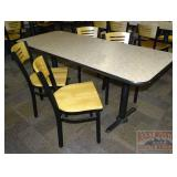 71x28 Table & 4 Chairs.
