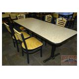 71x28 Table & 5 Chairs.