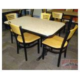 47x28 Table & 4 Chairs.