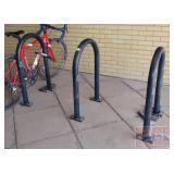 3 Steel Bike Racks.