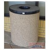 Nice Concrete Trash Can.