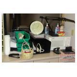 Microwave, Desk Lamp, Power Strips,