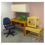 Desk, Arm Chair, End Tables, Lamp & More.