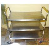 SS 3 Tiered Rolling Service Cart.