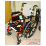 Ride Lite Red Wheelchair.  Needs Cushions.