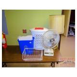Oscillating Fan, Table Lamp, Recycle Bin & More.