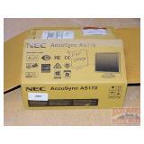 NEC AccuSync AS172 Monitor in Box.