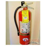 Badger 10 lb ABC fire extinguisher w/ bracket