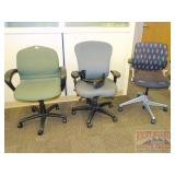 3 Gray-tone Office Chairs