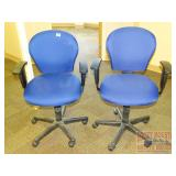Pair of Matching Blue Task Chairs