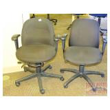 Pair of Matching Black Office Chairs