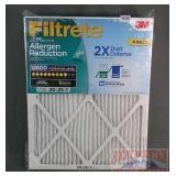 New Filtrete 4-Pack, 20X25X1 Filters.