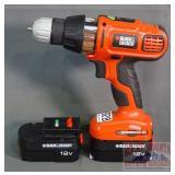 Black & Decker 12 Volt VSR Drill.